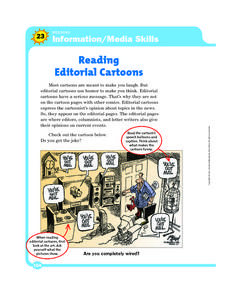 Reading Editorial Cartoons Worksheet