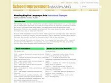 Reading/English Language Arts/ Instructional Strategies Lesson Plan