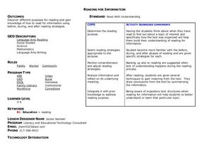 Reading for Information Lesson Plan