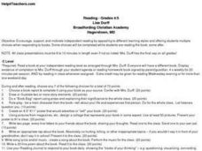 Reading - Grades 4/5 Lesson Plan