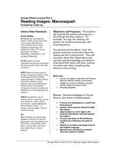 Reading Images: Maconaquah Lesson Plan
