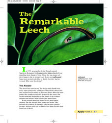 Reading in the Content Area-Leeches Lesson Plan