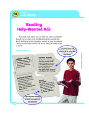 Reading: Job Skills Worksheet