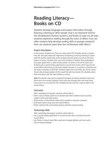 Reading Literacy- Books on CD Lesson Plan