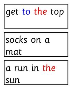 Reading Matching Exercise Worksheet