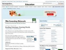 Reading Paintings, Drawing Words Lesson Plan