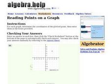 Reading Points on a Graph Worksheet