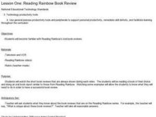Reading Rainbow Book Review Lesson Plan