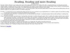 Reading, Reading and more Reading Lesson Plan