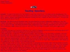 Reading Speedway Lesson Plan