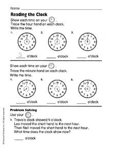 Reading the Clock Worksheet
