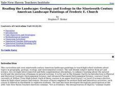 Reading the Landscape: Geology and Ecology in the Nineteenth Century American Landscape Paintings of Frederic E. Church Lesson Plan