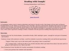 Reading with Oomph! Lesson Plan