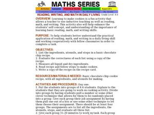 Reading, Writing, And Math in Daily Living Lesson Plan