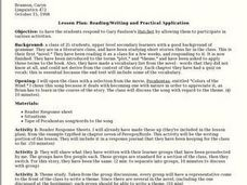 Reading/Writing and Practical Application Lesson Plan