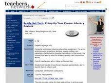 Ready, Set, Tech (Primp Up Your Poems: Literary Devices) Lesson Plan