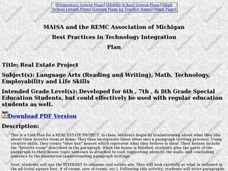 Real Estate Project Lesson Plan