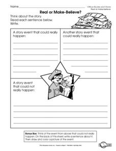 Printables Officer Buckle And Gloria Worksheets real or make believe kindergarten 2nd grade worksheet lesson worksheet