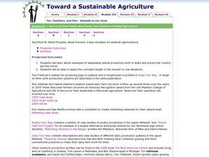 Real People, Real Farms: Case Studies of Animal Agriculture Lesson Plan