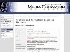 Realism and Formalism Learning Stations Lesson Plan