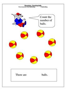 Reception: Counting Balls Worksheet