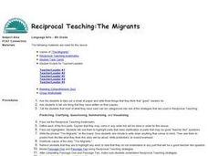Reciprocal Teaching:  The Migrants Lesson Plan