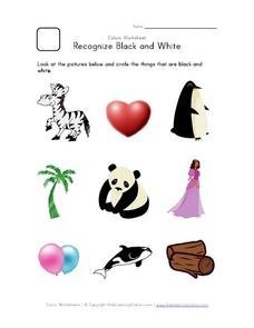Recognize Black and White Worksheet
