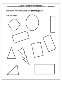 Recognize Rectangles Worksheet
