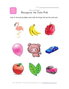 Recognize the Color Pink Worksheet