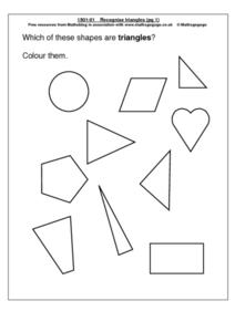 Recognize Triangles Worksheet