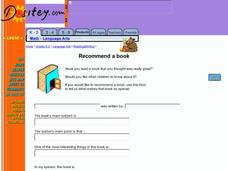 Recommend a Book 2 Worksheet