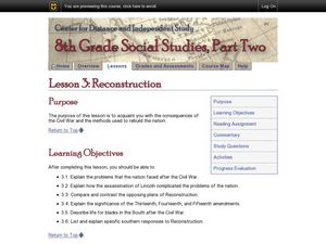 Reconstruction Lesson Plan