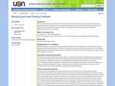 Record Your Own Family Folklore Lesson Plan