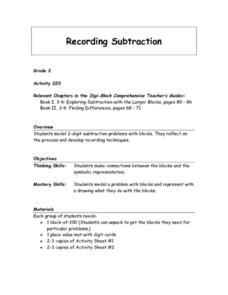 Recording Subtraction Lesson Plan