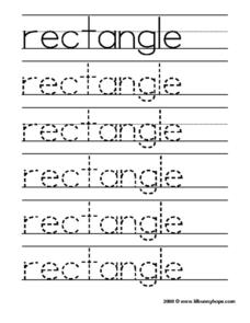 Rectangle Printing Practice Worksheet