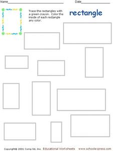 Rectangle Recognition Worksheet