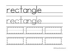 Rectangle Tracing Worksheet