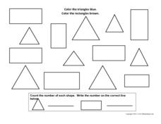 Rectangles and Triangles Worksheet