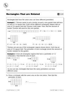 Rectangles That Are Related Worksheet