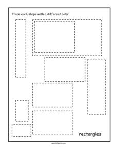 Rectangles Tracing Worksheet