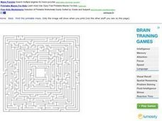 Rectangular Maze Worksheet