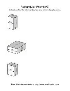 Rectangular Prisms [G] Worksheet