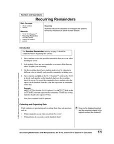 Recurring Remainders Lesson Plan