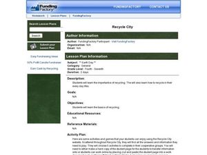 Recycle City Lesson Plan