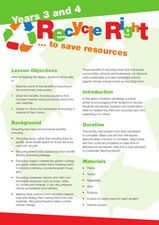 Recycle Right Lesson Plan