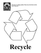 Recycle Symbol Worksheet