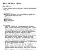 Recycled Rain Forest Lesson Plan