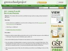 Recycling Process Lesson Plan