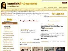 Recycling-Telephone Wire Baskets Lesson Plan