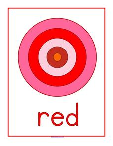 Red Bullseye Worksheet